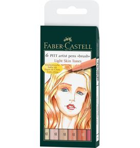 Faber-Castell - PITTアーティストペン スキントーンアソート