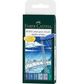 Faber-Castell - PITTアーティストペン ブルートーンアソート