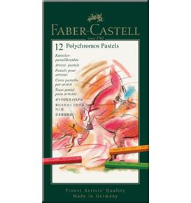 Faber-Castell - ポリクロモスパステル 12色 (紙箱入)
