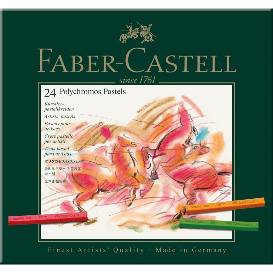 Faber-Castell - ポリクロモスパステル 24色 (紙箱入)