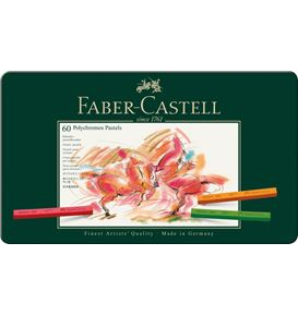 Faber-Castell - ポリクロモスパステル 60色(缶入)